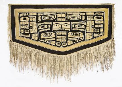 Chilkat Blanket, Tlingit, circa 1880 Northwest Coast Alaska  19th century Native American Indian antique vintage art for sale purchase auction consign denver colorado art gallery museum