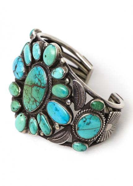 Zuni Bracelet silver turquoise old pawn jewelry cuff 19th century Native American Indian antique vintage art for sale purchase auction consign denver colorado art gallery museum