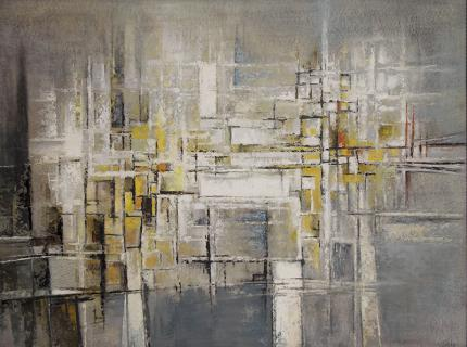 """Richard Sorby, """"The Bridge"""", circa 1962 oil painting fine art for sale purchase buy sell auction consign denver colorado art gallery museum"""