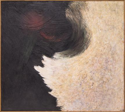 """Ruth Todd, """"The Intruding Void (Universal Landscape Series)"""", mixed media, circa 1960 painting fine art for sale purchase buy sell auction consign denver colorado art gallery museum"""