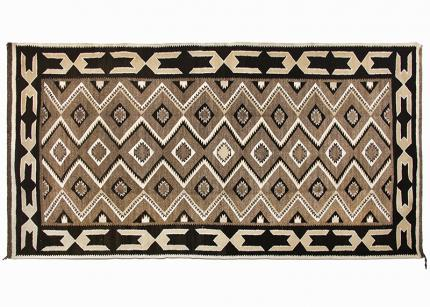 Vintage Navajo Red Mesa Trading Post Rug mid 20th century 1940s 1930 1950 area rug floor 19th century Native American Indian antique vintage art for sale purchase auction consign denver colorado art gallery museum