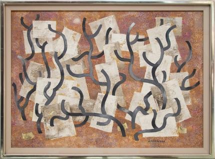"""Ward Lockwood, """"Growth"""", mixed media, circa 1950 painting fine art for sale purchase buy sell auction consign denver colorado art gallery museum"""