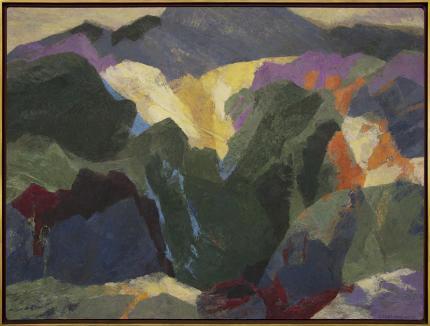"""Ethel Magafan, """"Mt. Sopris (Colorado)"""", tempera, circa 1945-1965"""