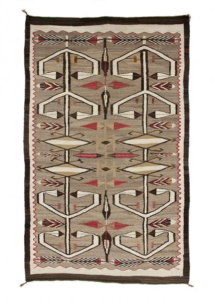 Vintage Navajo Rug Crystal trading post circa 1930 19th century Native American Indian antique vintage art for sale purchase auction consign denver colorado art gallery museum
