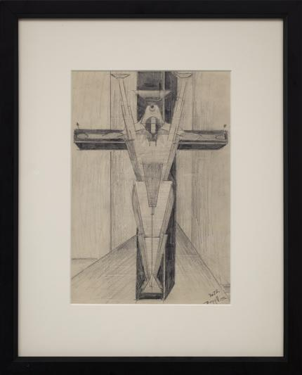 """Charles Ragland Bunnell, """"Untitled"""", graphite, 1946 for sale purchase consign auction denver Colorado art gallery museum"""
