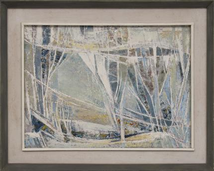 """RicRichard Sorby, """"The Chinook"""", mixed media, circa 1960 painting fine art for sale purchase buy sell auction consign denver colorado art gallery museum"""