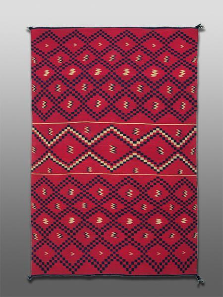 classic period Serape sarape , Navajo, circa 1860 pre reservation native american indian antique