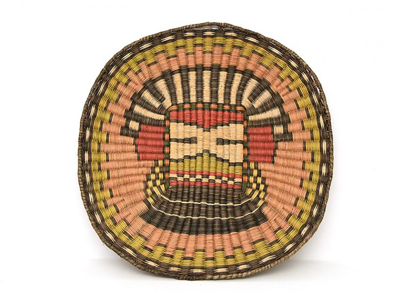 Wicker Plaque, Hopi Third Mesa, 19th century Native American Indian antique vintage art for sale purchase auction consign denver colorado art gallery museum