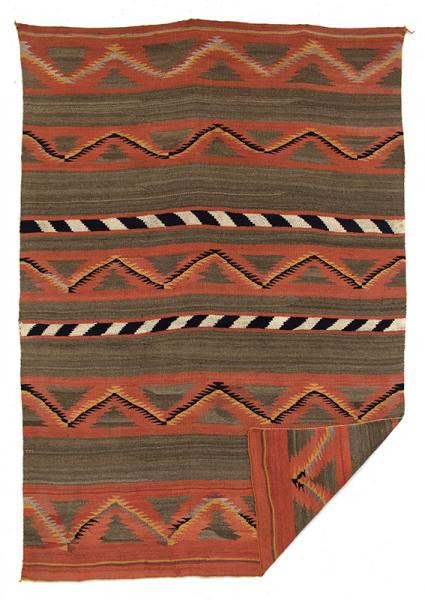 Navajo rug blanket vintage tapestry wall hanging bed covering throw