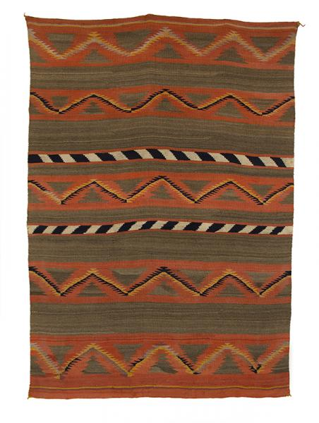 Navajo serape sarape blanket banded 19th century Native American Indian antique vintage art for sale purchase auction consign denver colorado art gallery museum