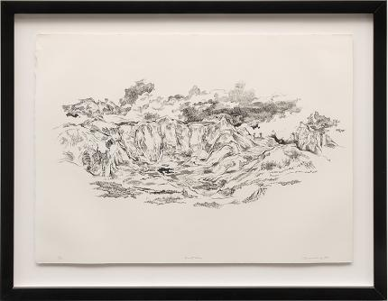 """Eric James Bransby, """"North Face"""", lithograph, 1978 denver colorado art gallery museum auction consign purchase sale"""
