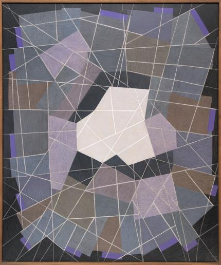 """Margo Hoff, """"Stone Quarry"""", mixed media, circa 1960 painting for sale purchase consign auction denver Colorado art gallery museum"""