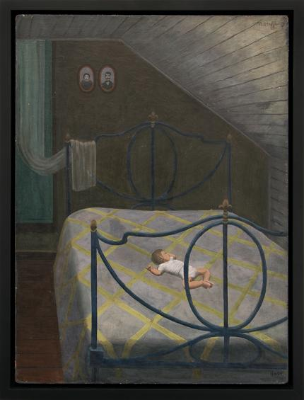 """Margo Hoff, """"Siesta Upstairs"""", oil, 1945 painting fine art for sale purchase buy sell auction consign denver colorado art gallery museum"""
