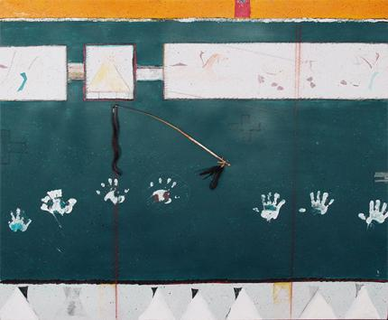 """Randy Lee White, """"Untitled"""", mixed media, c. 1985 for sale purchase consign auction denver Colorado art gallery museum"""
